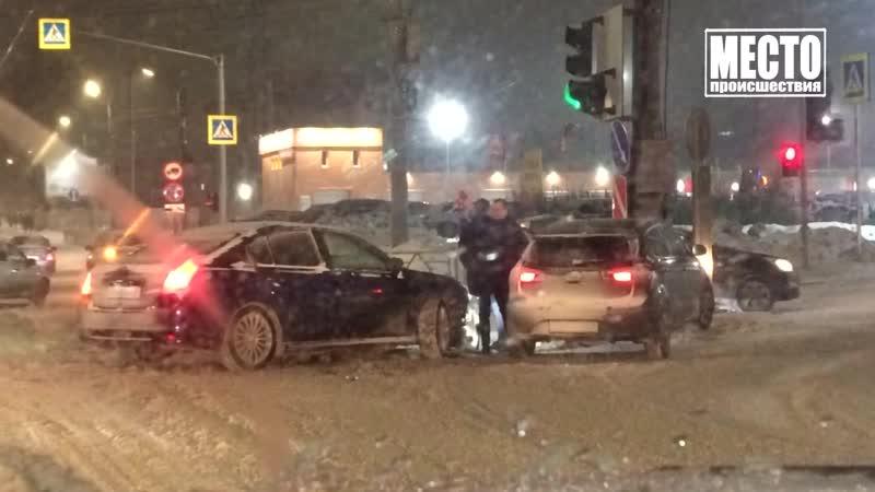 Видеорегистратор Фарафонов на Субару попал в ДТП Место происшествия 10 01 2020