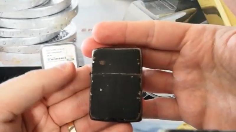 A Piece of History - The WW2 Black Crackle Zippo Lighter!