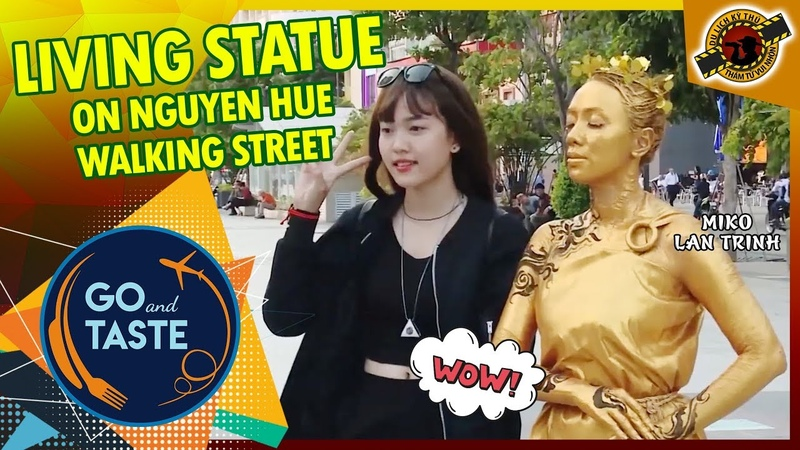 Miko Lan Trinh - How To Be A Professional Living Statue 😲 「GO AND TASTE」