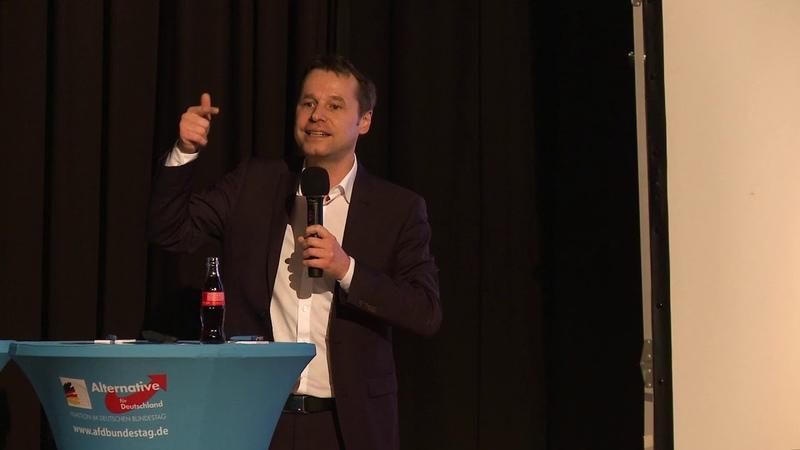Volksentscheide mehr direkte Demokratie Jochen Haug AfD Bürgerdialog in Dorsten 17 09