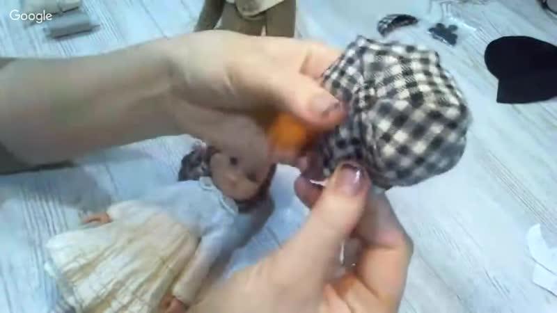 Береты и кепки для кукол и тедди Кукольная мастерская Альбина Глумова