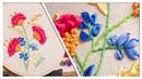 Bordado a mano, flores lindas y fáciles/Handmade embroidery flowers beatiful easy