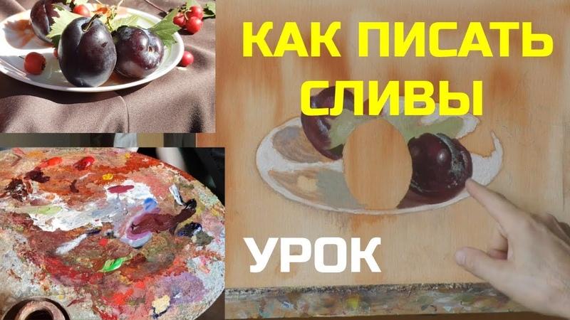 Как написать сливы Часть 1 Урок живописи маслом Юрий Клапоух 2019
