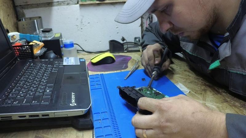 Ремонт ЭБУ ваз замена силовых транзисторов ( ключей )!! m73 bosch 7.9.7 январь 7.2