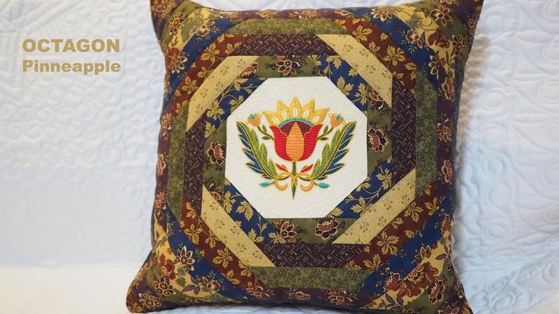 Octagon pattern Pineapple Patchwork tutorial