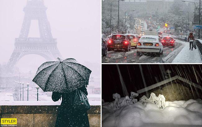 Смертельный снегопад во Франции: шокирующие фото и видео