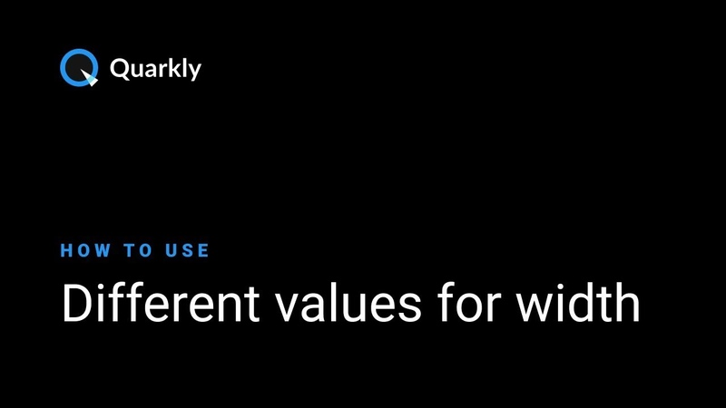 Quarkly — different values for width