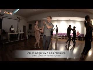 Salsa. Live. Anton Grigoriev & Lilia Abdullina    NY fest. 2019