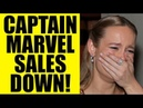 CAPTAIN MARVEL Blu-Ray Sales DOWN 50% - Brie Larson MCU Movie is NOT Doing Great for Disney