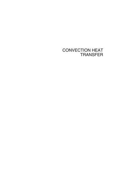 Convection Heat Transfer (4th Edition) by Adrian Bejan