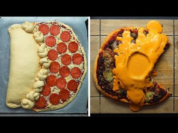 4-ре рецепта Монстра-пиццы идеальных для того чтоб произвести впечатление на ваших друзей и семью! Сыр 🧀: Красный Лестер (Лестер или Лестершир сыр), Пармезан, Моцарелла, Чеддер, Рикотта. Гарнир: Макароны,Канал рецептов и готовки: «Twisted».
