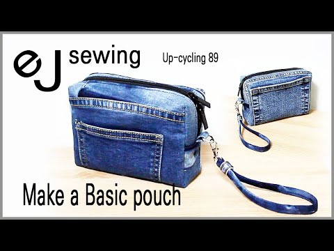 EJ-Up cycle 89/ 기본 사각 파우치 만들기 /Make a Basic pouch /DIY/CRAFTS/MAKE A BAG