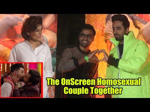 Ayushmann Khurrana And Jitendra Kumar Cute Masti On Shubh Mangal Zyada Saavdhan Trailer Success