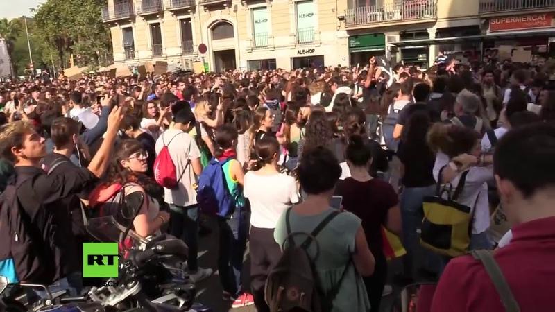 LIVE aus Barcelona: Proteste von Unabhängigkeitsbefürwortern-Müssen Separatisten jahrelang in Haft?