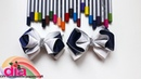 красивые бантики в школу из лент своими руками /beautiful bows to school handmade from ribbons