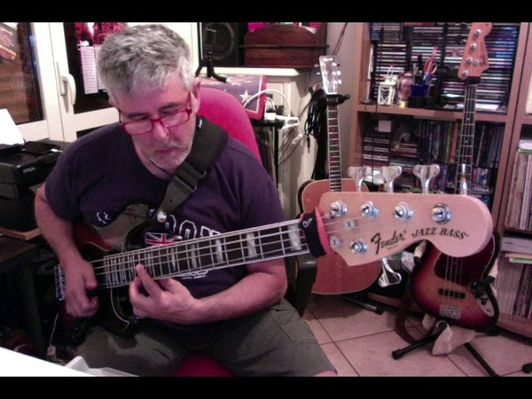 Funky slap line with my Fender jazz bass Deluxe 5