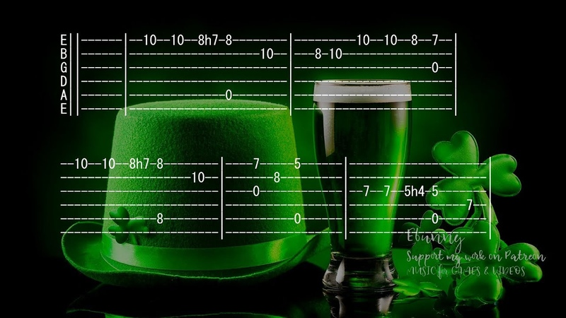 Ev Sistr Son Ar Chistr Full Acoustic Guitar Tab by Ebunny Happy St Patrick's Day