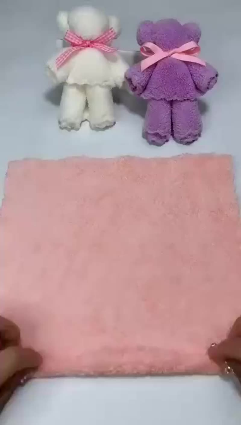 Мишка из махрового полотенца