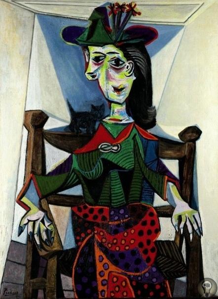 Картина Пабло Пикассо «Дора Маар с кошкой» реализована за 96 млн долларов в 2005 году