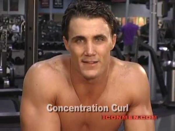 Greg Plitt - Concentration Curl (Bodybuilding)