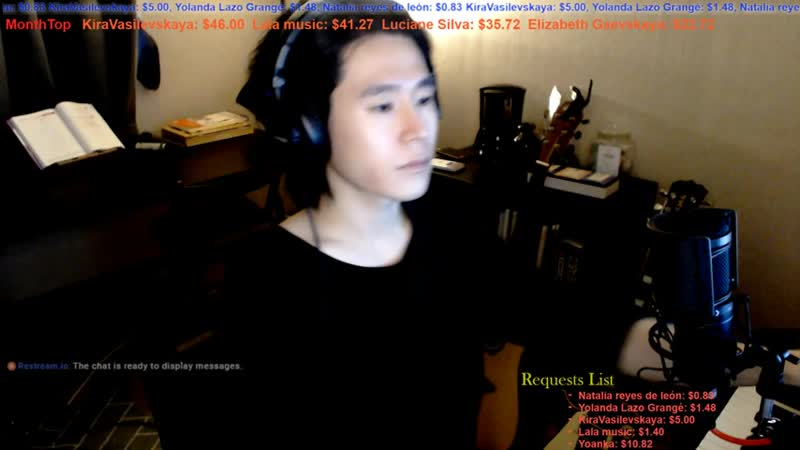 【Live Stream_ライブ配信】 🇰🇷🇯🇵🇬🇧🇫🇷🇪🇸 Talk and Song Practice , 適当な弾き語り配信。 (3).mp4