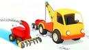 El quitanieves y el camión de remolque Vehículos de servicio Dibujos animados para niños