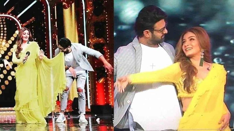 Prabhas-Raveena's ZABARDAST Dancing On Tip-Tip-Bursa-Pani @Saaho promo. on NachBaliye-9 wid Shraddha