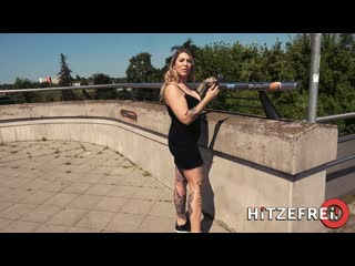 Hitzefrei Mia Blow Gorgeous Cock Sucker De Busty MILF Blonde Upskirt Public Pick Up Street Tattoo POV Cumshot Natural Big Tits