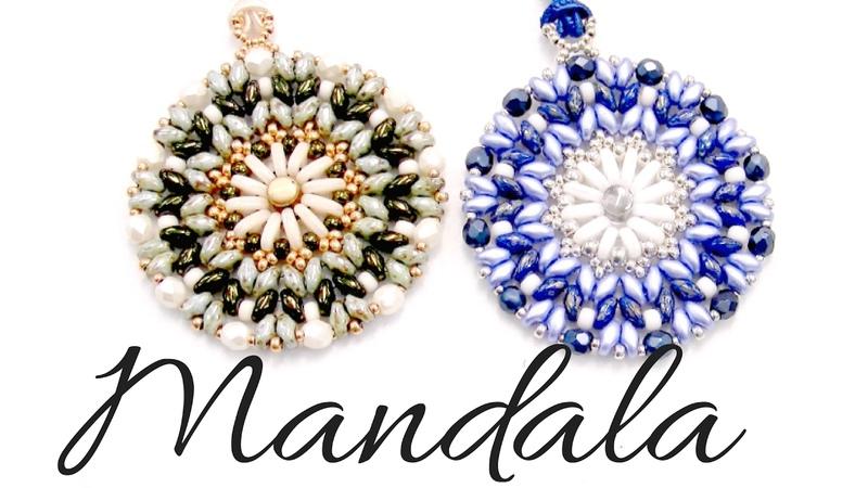 Colgante Mandala con cuentas Bar , Superduo y Miyuki