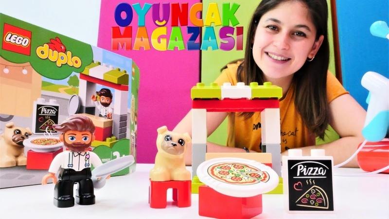 Ayşenin oyuncak mağazası - Lego Duplo pizza standı! Yeni oyuncak açılımı oyun videosu
