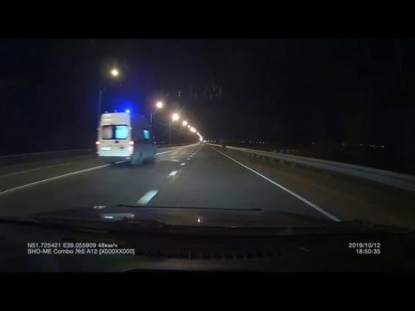 Авария в Воронежк Скорой помощи и легкового авто, который выехал на встречку