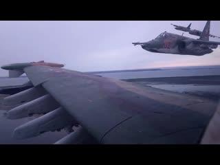 Летно-тактическое учение с экипажами штурмовиков Су-25 в Краснодарском крае