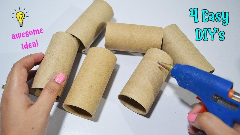 4 Ways To ReUseRecycle Empty Tissue Roll| Best Out of Waste