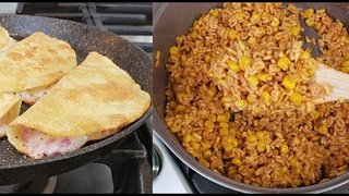 Cooking One Meal A Day Sopa with Corn Cheese and Onion Tacos Dorados