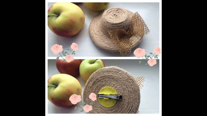 МК шляпки из подручных материалов все просто и ягодно DIY hat for girls