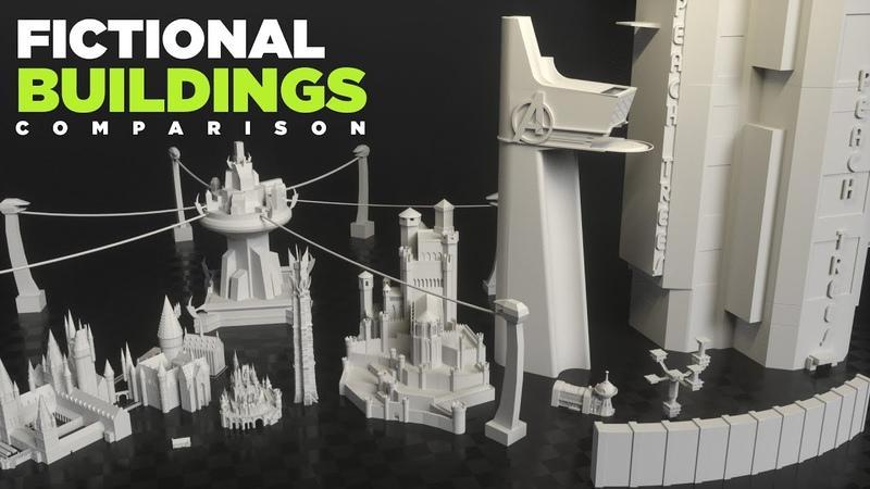 Fictional BUILDINGS Size Comparison