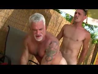 Son with big cock barebacks dad