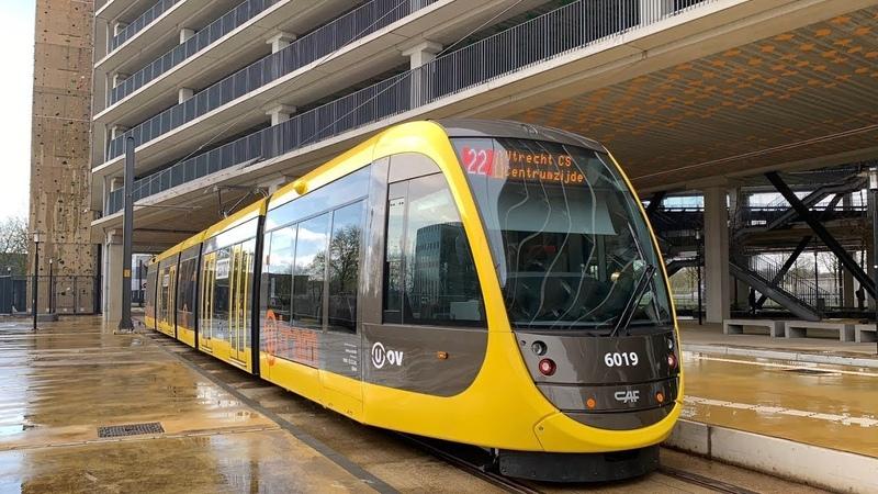 мм1435колея ТрамвайСкоростнойВыделенки Trams op de Uithoflijn in Utrecht CAF Urbos 100 Stadsbus