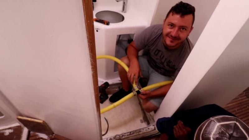 Boat plumbing Throughhulls Bilge Pumps Yacht Refit Restoration Week 54 Ep 63