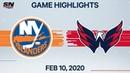 NHL Highlights Islanders vs Capitals Feb 10 2020