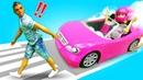 Барби учится водить машину. Играем в куклы. Мультики для девочек с Барби