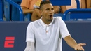 Nick Kyrgios smashes rackets, berates chair umpire during latest meltdown   Tennis Highlights