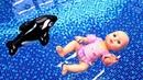 Беби Бон в БАССЕЙНЕ плавает в нарукавниках. Мультики для девочек - Играем в куклы