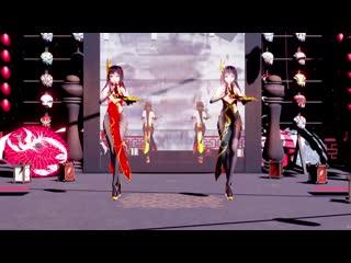 Mmd хентай танец, стриптиз. hentai dance. magic mirror