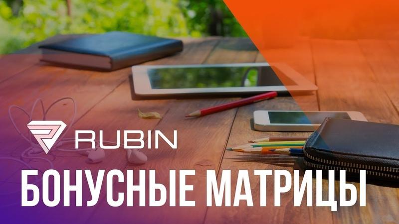 Rubin Бонусные матрицы Презентация