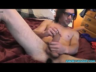 Zack Randall Official - Gorgeous Zack Randall sucks his own cock while butt plugged - free gay video by