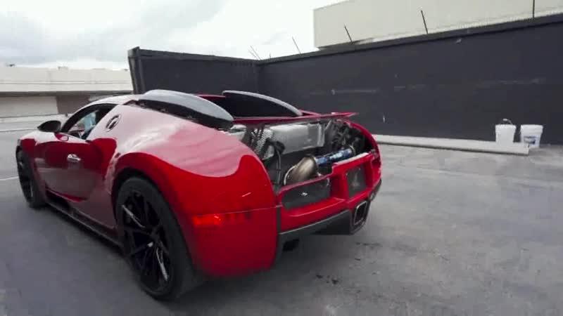 Самый громкий в мире Bugatti Veyron
