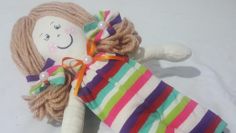 Aprenda a fazer uma bonequinha de pano feita a mão com molde, passo á passo *Cris Pinheiro*