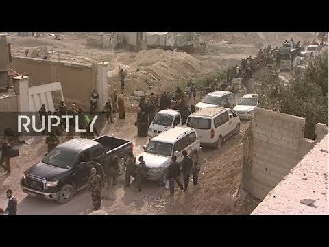 LIVE from Eastern Ghouta as civilian evacuation underway