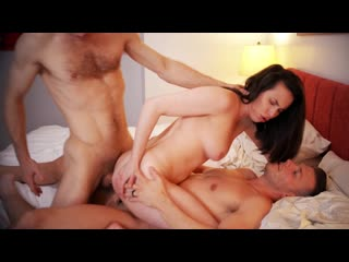 Casey Calvert - Threes a Crowd Part 2 - Anal Sex Double Penetration DP Threesome Chubby Big Natural Tits Juicy Ass, Porn, Порно